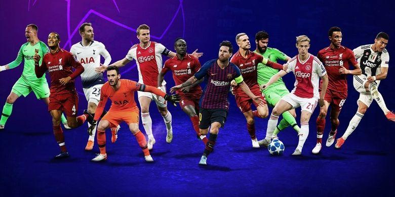 12 nama calon peraih penghargaan Liga Champions musim 2018-2019.