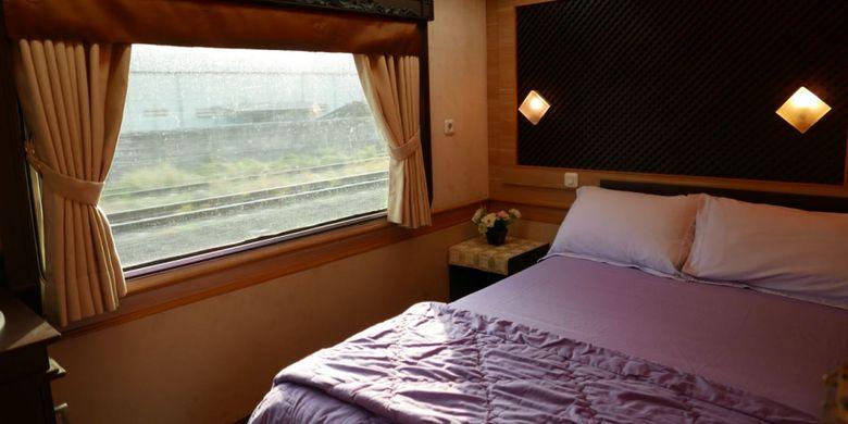 Kamar tidur di gerbong Jawa.