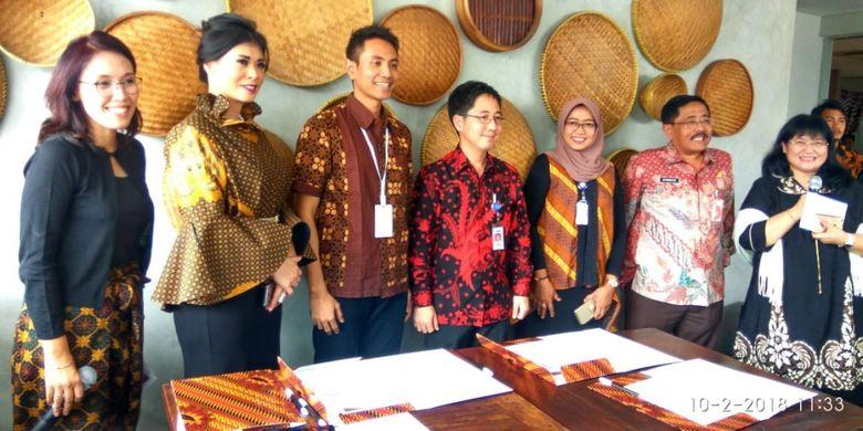 Konferensi Pers Pesona Maraton Launching Trailer Film Impian 1000 Pulau di Restoran Dapur Solo Panglima Polim Jakarta Selatan, Selasa (2/10/2018).