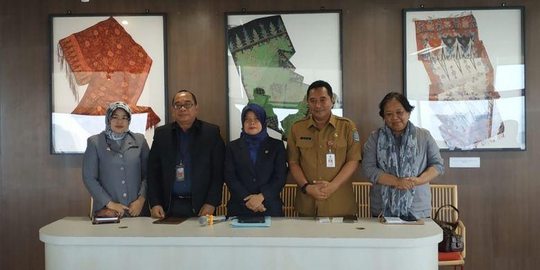 Konferensi pers (11/3/2019) jelang Rapat Koordinasi Nasional (Rakornas) Bidang Perpustakaan di Jakarta 13-16 Maret 2019.