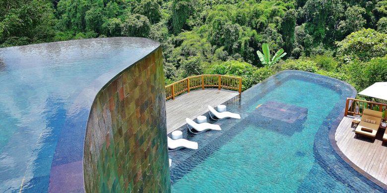 Kolam renang di Hanging Gardes of Bali.