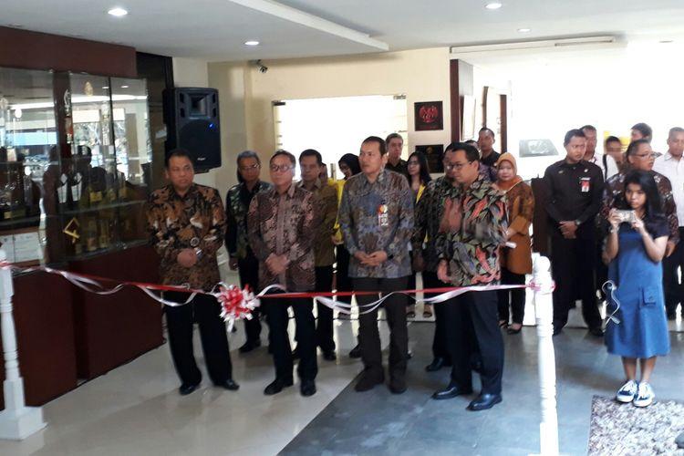 Mahkamah Konstitusi (MK), Majelis Pemusyawaratan Rakyat (MPR) dan Komisi Pemberantasan Korupsi bekerja sama dengan Universitas Indonesia menggelar kegiatan Festival Konstitusi dan Antikorupsi 2017, di Auditorium Djoko Soetono Kampus Universitas Indonesia, Depok, Jawa Barat. Senin (13/11/2017).