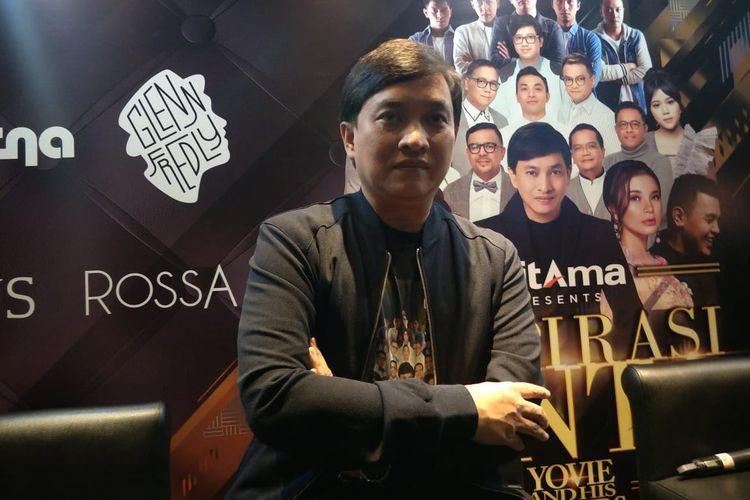 Yovie Widianto dalam jumpa pers Konser Inspirasi Cinta di Gandaria City, Kebayoran, Jakarta Selatan, Kamis (11/7/2019).