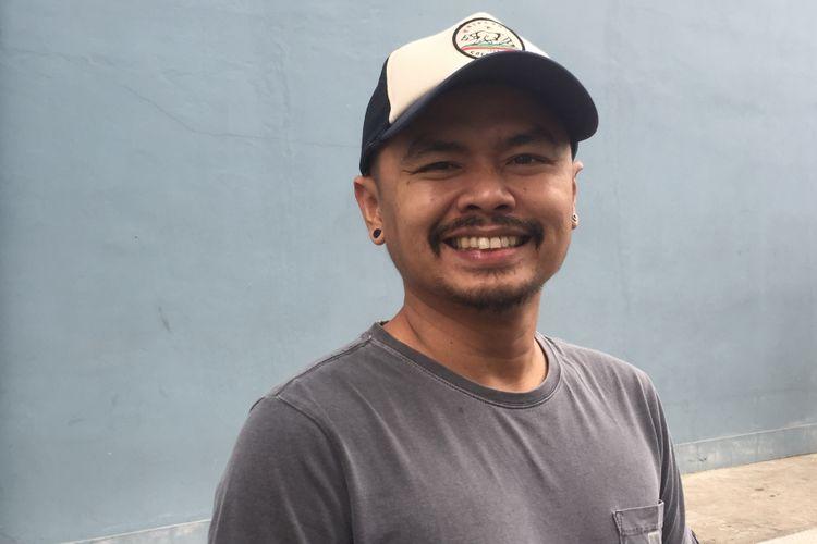 Wendy Cagur dijumpai di pelataran Gedung Trans, Mampang, Jakarta Selatan, Kamis (19/4/2018).