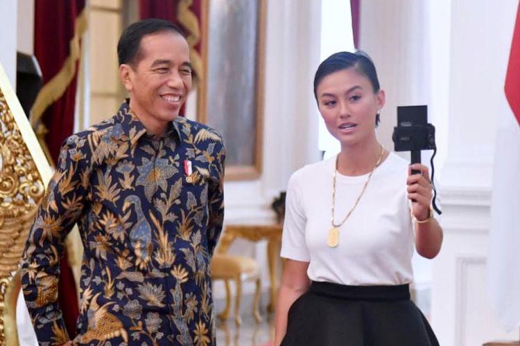 Hasil gambar untuk agnez mo bertemu presiden jokowi insta story