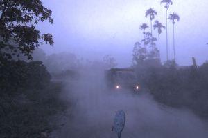 Erupsi Gunung Sinabung, Wilayah Dairi dan Pakpak Barat Tertutup Kabut Tebal