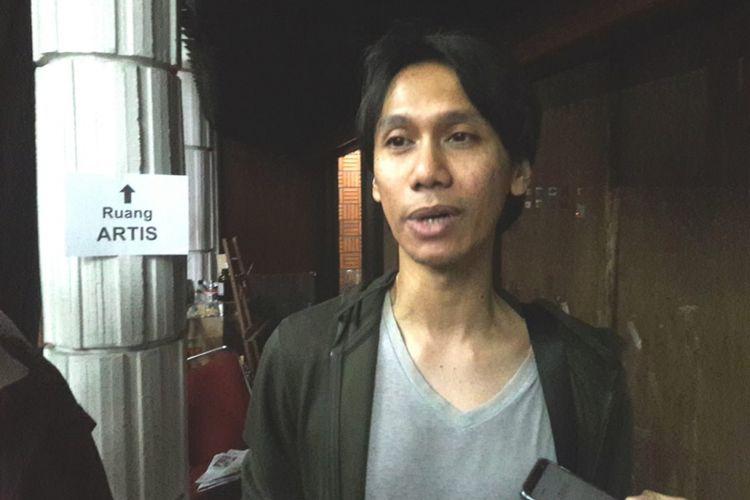 Gitaris Eross Candra dalam wawancara di acara Gitaris Indonesia Peduli Negeri di Bentara Budaya Jakarta (BBJ), Palmerah, Jakarta Pusat, Kamis (11/10/2018) malam.