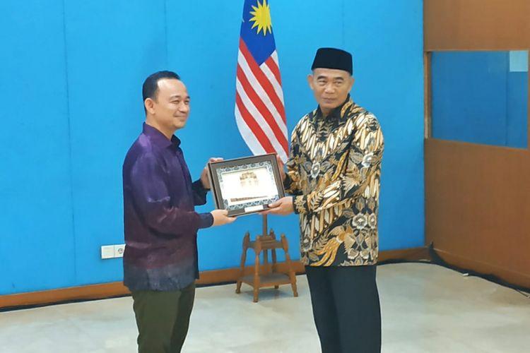 Pertemuan antara Menteri Pendidikan Kebudayaan RI Muhadjir Effendy dan Menteri Pendidikan Malaysia Maszlee Malik di Gedung Kemendikbud RI, Jakarta, 11 Januari 2019.
