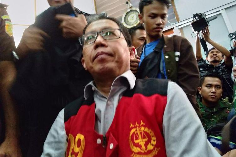 Terdakwa kasus perusakan dan penghilangan barang bukti, Joko Driyono di Pengadilan Negeri Jakarta Selatan, Selasa (23/7/2019)