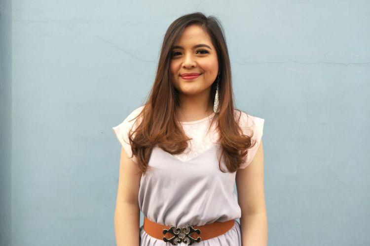 Tasya Kamila saat ditemui di kawasan Tendean,  Jakarta Selatan, Rabu (13/6/2018).