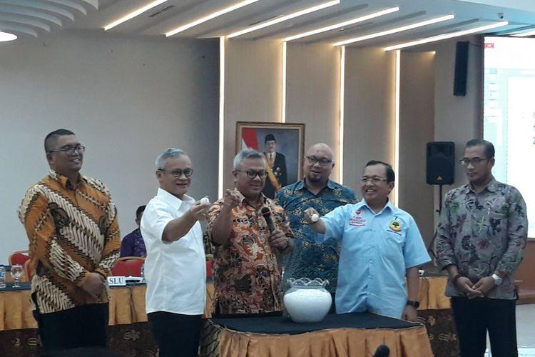 Rapat persiapan debat kedua pilpres di kantor KPU, Menteng, Jakarta Pusat.