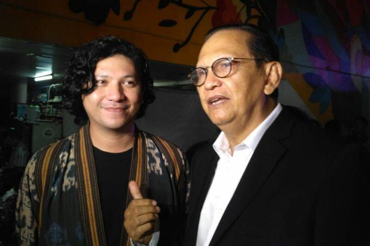 Gading Marten dan Roy Marten menghadiri Malam Puncak Anugerah Piala Citra 2018 di Teater Besar Taman Ismail Marzuki, Cikini, Jakarta Pusat, Minggu (9/12/2018).