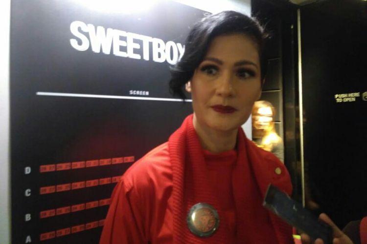 Artis peran Rima Melati Adams saat ditemui usai press screening film DreadOut di Grand Indonesia, Kebon Kacang, Jakarta Pusat, Rabu (2/1/2019).