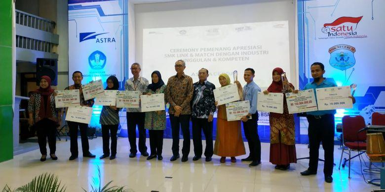 Astra Internasional dan Kemendikbud menggelar acara bertajuk Apresiasi SMK Link and Match Industri Unggulan dan Kompeten di SMK Negeri 26, Jakarta (6/11/2018).