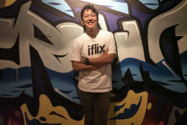 Dimas Anggara saat ditemui di kantor Iflix Indonesia di kawasan Kebayoran Baru, Jakarta Selatan, Senin (3/12/2018).