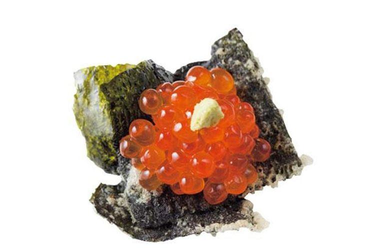 Hidangan paling laku, Salmon Roe Canape (206 yen)