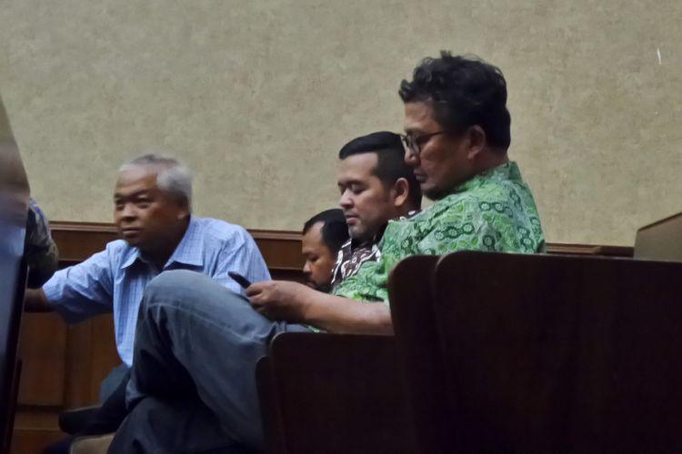 Mantan Komisaris PT Murakabi Sejahtera, Onny Hendro Adhiaksono, di Pengadilan Tipikor Jakarta, Jumat (27/10/2017).