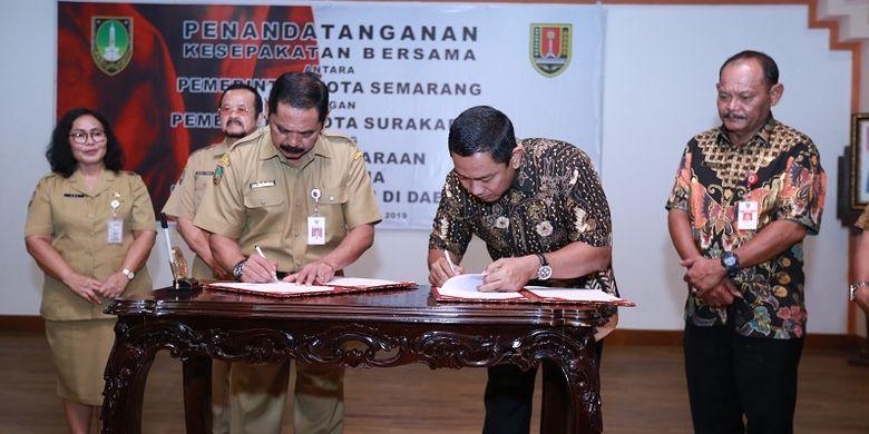 Majukan Jawa Tengah, Semarang dan Solo Jalin Kerja Sama