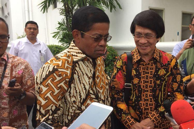 Menteri Sosial Idrus Marham dan Ketua LPAI kak Seto di Istana Kepresidenan, Jakarta, Senin (5/2/2018)