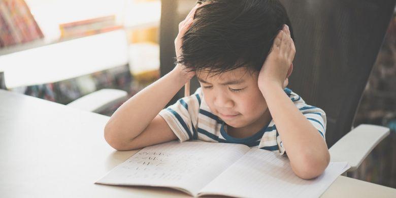 Ilustrasi anak kesulitan belajar.