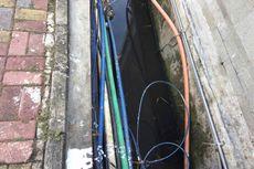 Kabel Besar dan Kosong Dalam Saluran Air Diperjualbelikan