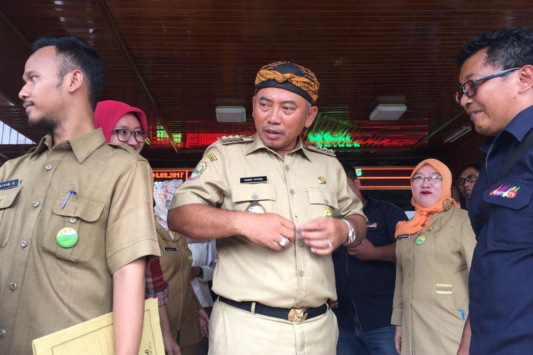 Wali Kota Bekasi Rahmat Effendi saat ditemui di Gedung Pemerintah Kota (Pemkot) Bekasi, Senin (4/9/2017).