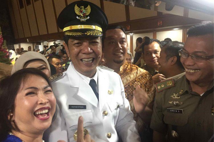 Rustam Effendi dilantik menjadi wali kota Jakarta Barat menggantikan  Anas Effendi, Kamis (5/7/2018).