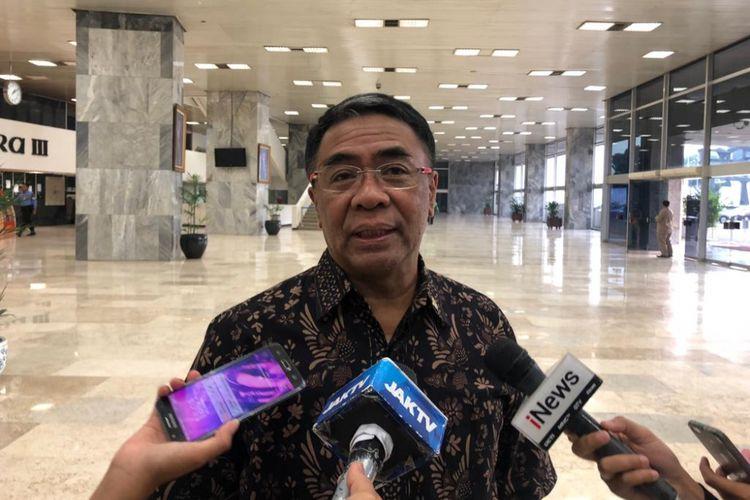 Wakil Ketua Komisi VIII DPR Sodik Mudjahid di kompleks parlemen, Selasa (13/11/2018).