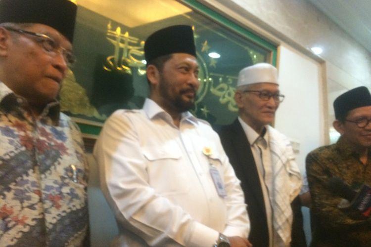 Direktur Utama Bulog Komjen Budi Waseso di Kantor PBNU, Jakarta Pusat, Rabu (3/10/2018).