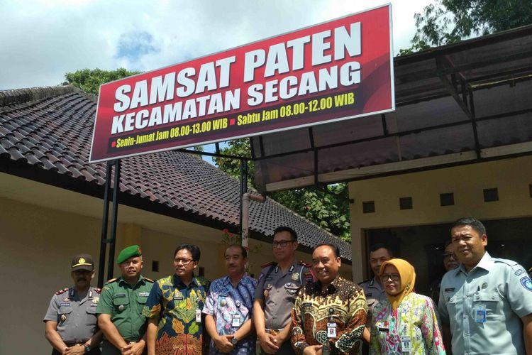 Peresmian kantor Samsat Paten di Kecamatan Secang, Kabupaten Magelang, Jawa Tengah, Kamis (5/4/2018).