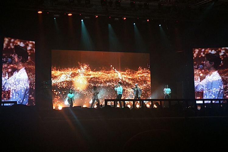 Park Bo Gum menggelar fan meeting bertajuk Good Day di The Kasablanka Hall, Kota Kasablanka, Jakarta Selatan, Sabtu (23/3/2019) malam.