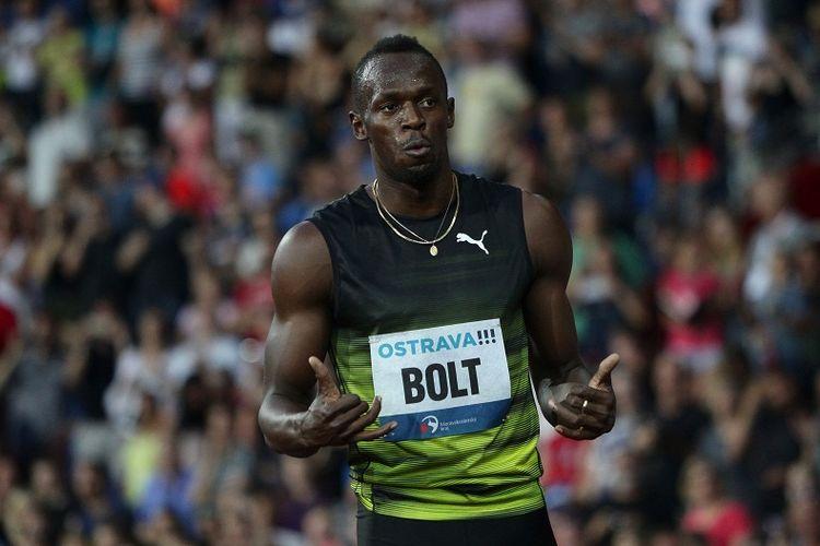 Pelari Jamaica, Usain Bolt, bertanding dalam ajang IAAF World Challenge Zlata Tretra (Golden Spike) di Ostrava, Republik Ceko, 28 Juni 2017.