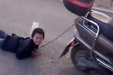 Mencuri Uang, Bocah Ini Diikat dan Diseret Ibunya Pakai Sepeda Motor