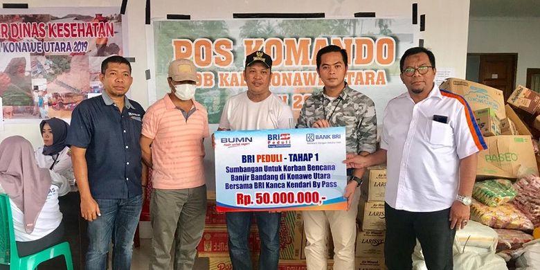 BRI Salurkan Bantuan Rp 270 Juta untuk Korban Banjir di Sulteng dan Kaltim
