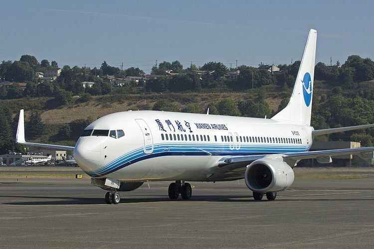 Sebuah Boeing 737-800 milik maskapai penerbangan Xiamen Air.