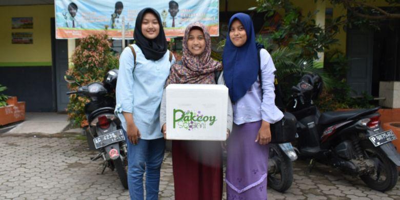 Pakcoy Scremi -brand es krim sawi buatan mahasiswa Politeknik Negeri Jember ini memiliki rasa mirip alpukat, tak kalah lezat dari es krim lain.