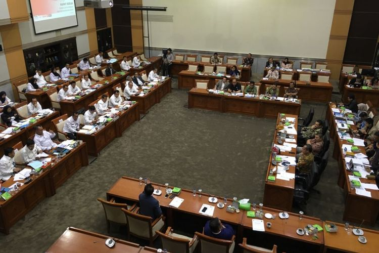 Ilustrasi rapat Komisi III DPR