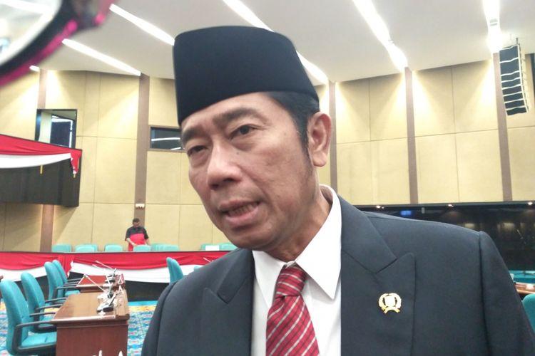 Wakil Ketua DPRD DKI Jakarta Abraham Lunggana di Gedung DPRD, Jalan Kebon Sirih, Rabu (15/11/2017).
