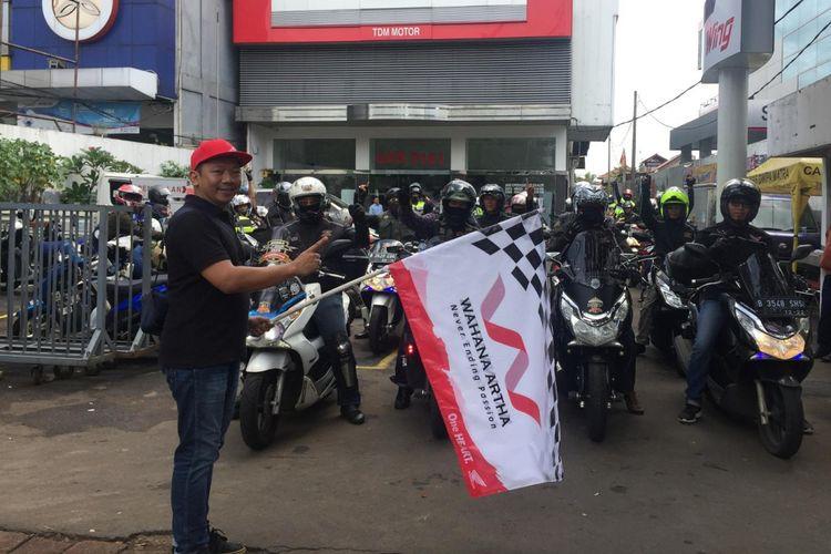 Honda PCX Club Indonesia gelar touring Jakarta menuju Puncak Bogor, 20-21 Januari 2018.