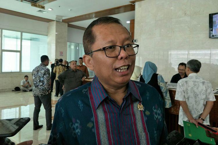 Wakil Ketua Tim Hukum Jokowi-Maruf, Arsul Sani di Kompleks Parlemen Senayan, Jamarta, Selasa (28/5/2019).