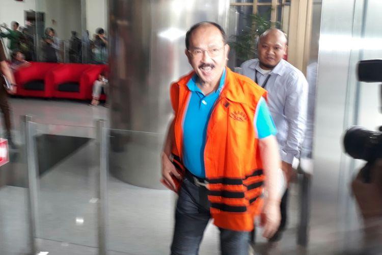 Mantan pengacara Setya Novanto, Fredrich Yunadi, Rabu (17/1/2018).