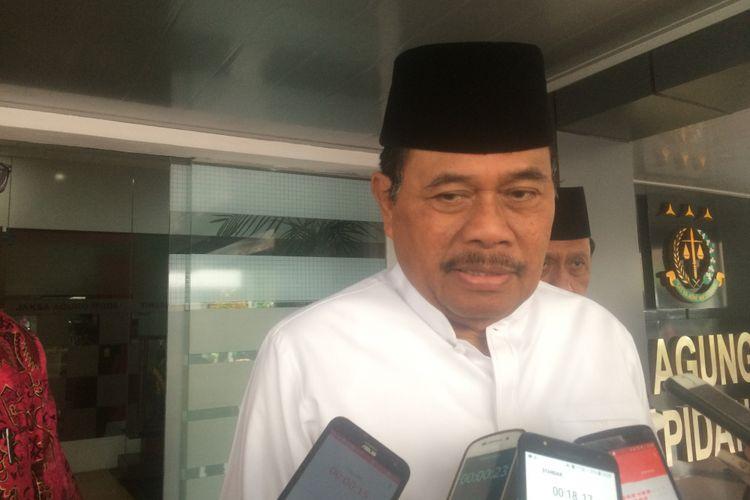 Jaksa Agung Muhammad Prasetyo Saat ditemui di Kantor Kejagung RI, Jakarta, Jumat (21/9/2018).