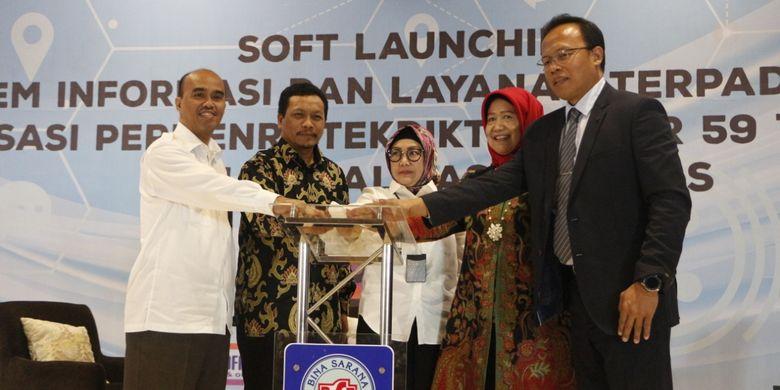 Lembaga Layanan Pendidikan (LLDikti) Wilayah III DKI Jakarta meluncurkan aplikasi Sistem Informasi dan Layanan Terpadu (SIL@T) di BSI Convention Center, Bekasi, Jawa Barat (22/7/2019).