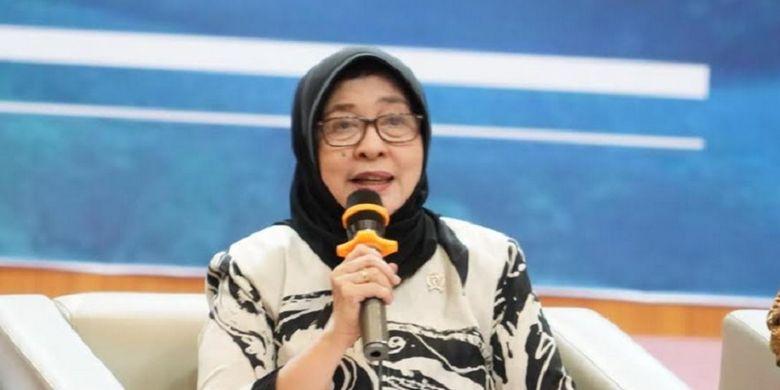 Menkes Nila F Moeloek dalam kunjungan dan temu media di Gorontalo, Senin (16/7/2018).