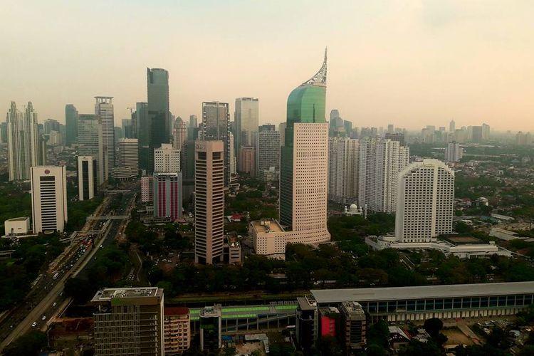 Cakrawala Jakarta, Indonesia.