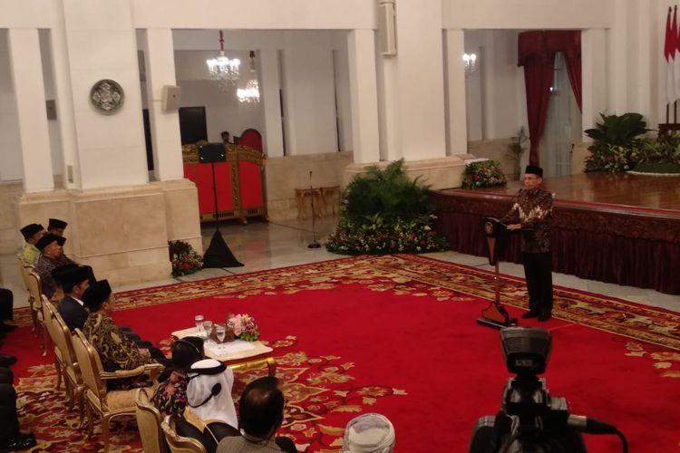Suasana peringatan nuzulul quran di Istana Negara, Jakarta, Selasa (21/5/2019).