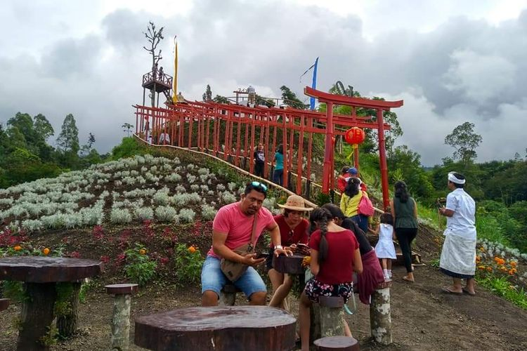 Taman Jinja di Karangasem, Bali.