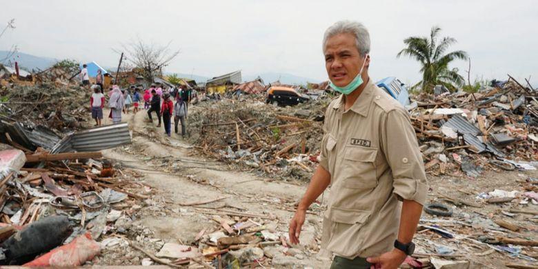 Bangun Huntara di Palu, Gubernur Ganjar Panen Pujian