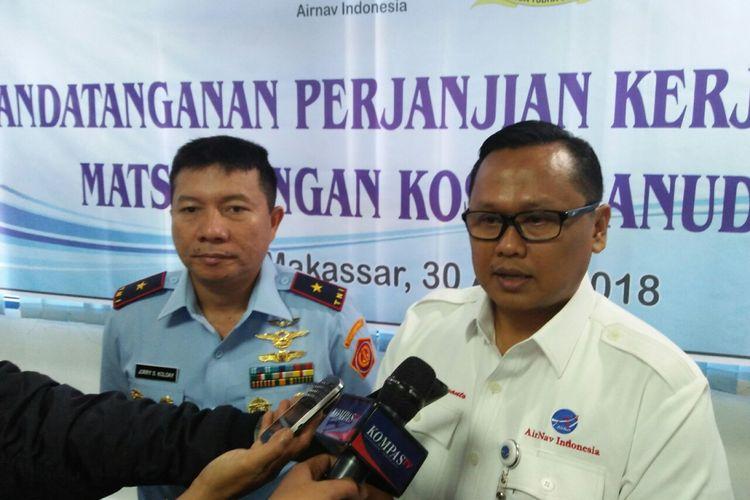 Panglima Kosekhanudnas IV/Biak, Marsekal Pertama Jorry S Kolosy dan GM MATSC Novy Pantaryanto.
