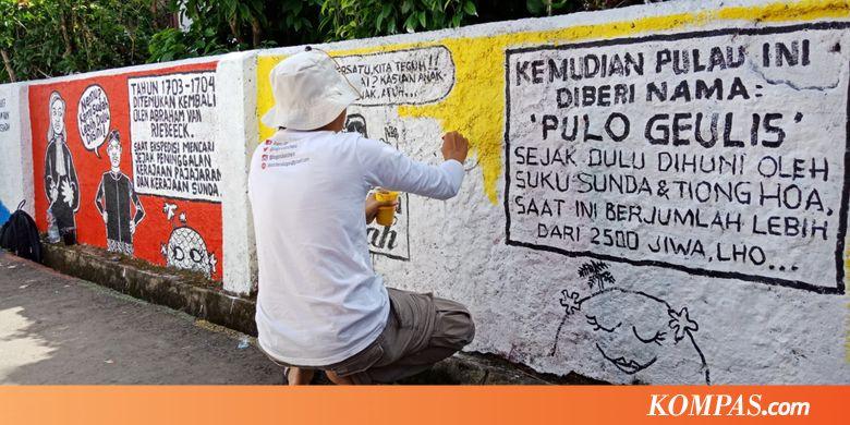 """Puluhan Seniman Melukis """"Pulau"""" Bersejarah di Bogor"""